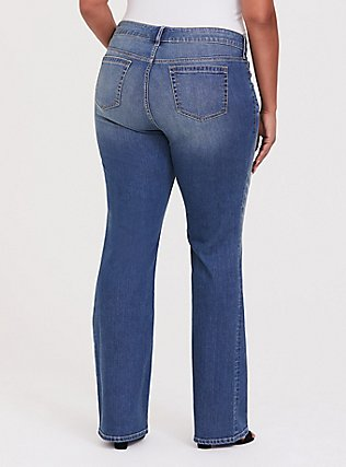 Plus Size Relaxed Boot Jean - Vintage Stretch Medium Wash , BACKSEAT BINGO, alternate