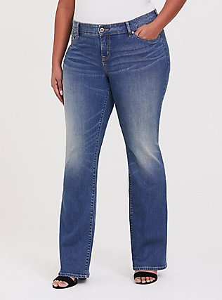 Plus Size Relaxed Boot Jean - Vintage Stretch Medium Wash , BACKSEAT BINGO, hi-res