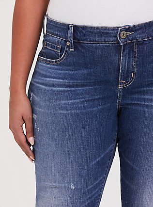 Plus Size Mid Rise Skinny Jean - Vintage Stretch Medium Wash, SHELBY 68, alternate