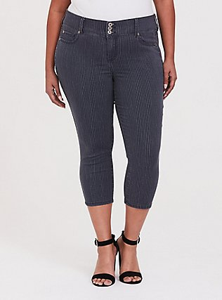 Crop Jegging - Super Stretch Pin Stripe, RINSE STRIPES, hi-res