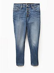 Crop Sky High Skinny Jean - Premium Stretch Medium Wash with Released Hem, GREENWICH, hi-res