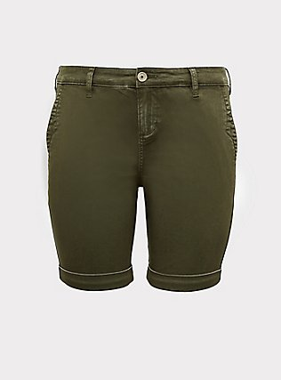Chino Twill Short - Olive Green, ARMY GREEN, flat
