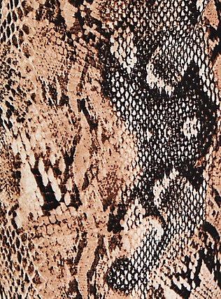 Snakeskin Print Crepe Tie-Front Tapered Pant, ANIMAL, alternate