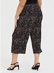 Black Leopard Heart Studio Knit Culotte Pant, HEARTS, alternate