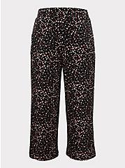 Black Leopard Heart Studio Knit Culotte Pant, HEARTS, hi-res