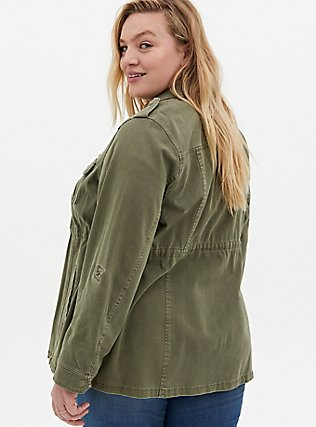 Olive Green Twill Anorak, GREEN, alternate