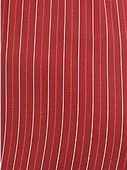 Brick Red Stripe Challis Self Tie Wide Leg Jumpsuit , RED STRIPE, alternate
