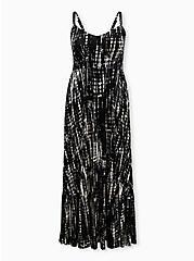 Black Tie-Dye Jersey Maxi Dress, BLACK TIE DYE, hi-res