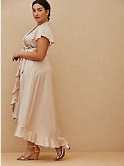 Special Occasion Light Pink Satin Hi-Lo Formal Gown , BLUSH, alternate
