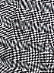 Black Plaid Houndstooth Self Tie Tapered Pant, PLAID, alternate