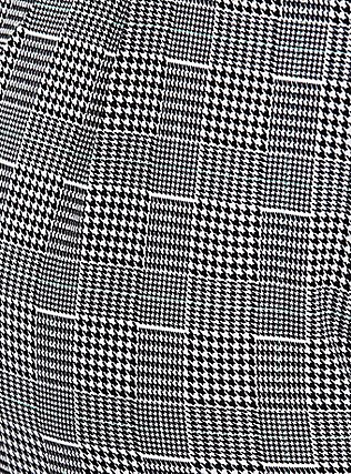 Plus Size Black Plaid Houndstooth Tie Front Tapered Pant, PLAID, alternate
