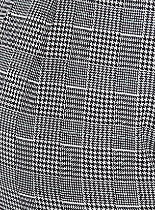 Black Plaid Houndstooth Self Tie Tapered Pant, PLAID, alternate
