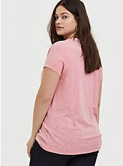 More Love Pink Slub Ringer Tee, , alternate