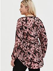 Pink Tie-Dye Gauze Babydoll Tunic, TIE DYE, alternate