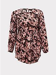 Pink Tie-Dye Gauze Babydoll Tunic, TIE DYE, hi-res