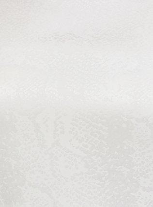 White Jacquard Mixed Animal Print Babydoll Blouse, CLOUD DANCER, alternate