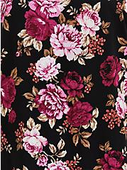 Ava - Black Floral Challis Cami , FLORAL - BLACK, alternate