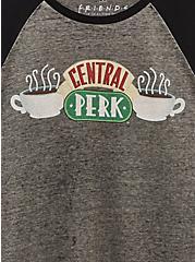 Friends Central Perk Grey Burnout Raglan Tee, MEDIUM HEATHER GREY, alternate