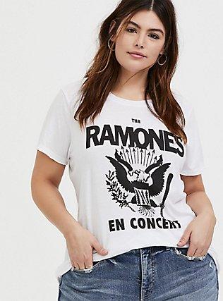 The Ramones En Concert White Crew Tee, CLOUD DANCER, hi-res