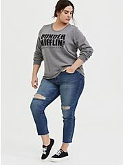 The Office Dunder Mifflin Grey Fleece Sweatshirt , MEDIUM HEATHER GREY, alternate