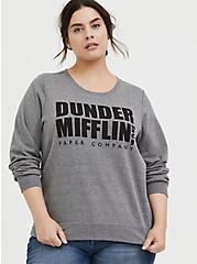 The Office Dunder Mifflin Grey Fleece Sweatshirt , MEDIUM HEATHER GREY, hi-res