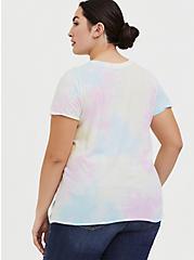 Plus Size Care Bears White & Multicolor Tie-Dye Crew Tee, CLOUD DANCER, alternate