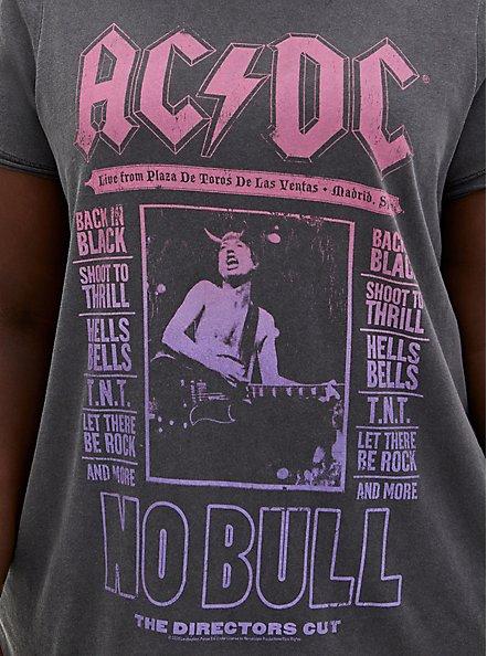 AC/DC Washed Black Crew Tee, DEEP BLACK, alternate