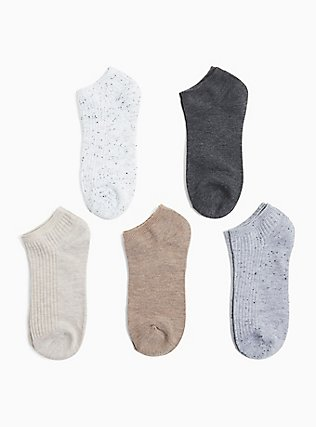 Plus Size Solid Socks Pack - Pack of 5, MULTI, alternate