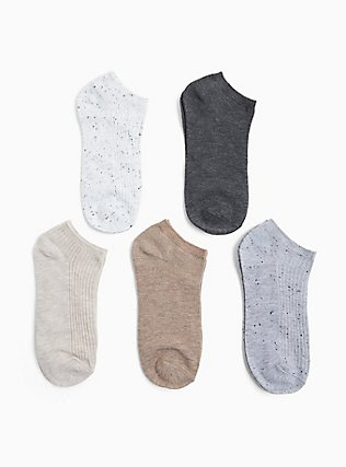 Plus Size Solid Socks Pack - Pack of 5, MULTI, hi-res