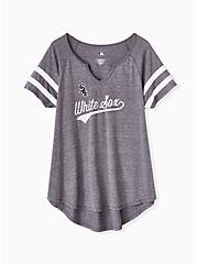 MLB Chicago White Sox Grey Triblend Tee, DEEP BLACK, hi-res