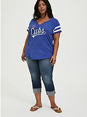 MLB Chicago Cubs Blue Triblend Tee, ROYAL BLUE, alternate