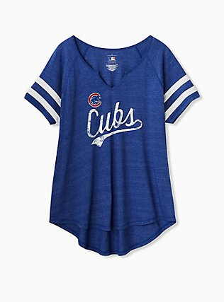 MLB Chicago Cubs Blue Triblend Tee, ROYAL BLUE, flat