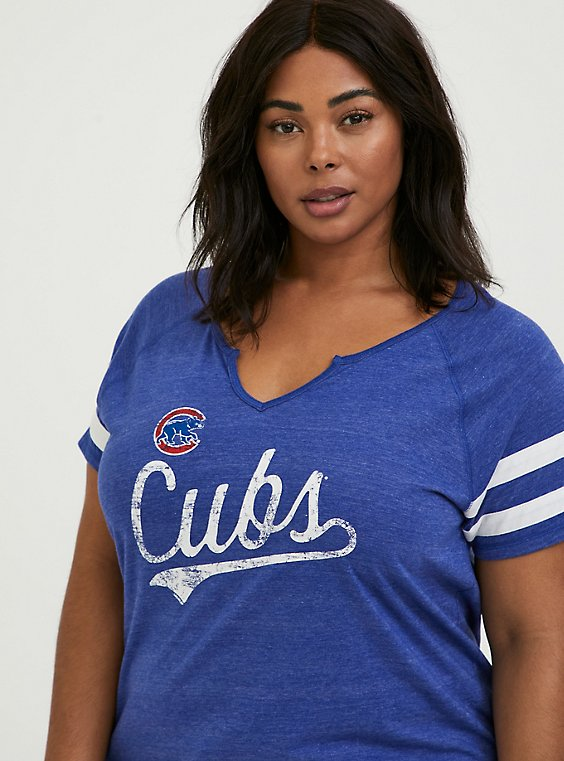MLB Chicago Cubs Blue Triblend Tee, , hi-res