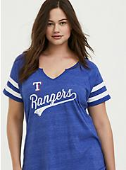 MLB Texas Rangers Blue Triblend Tee, ROYAL BLUE, hi-res