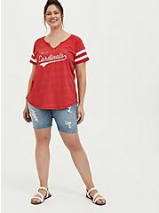 MLB St. Louis Cardinals Red Triblend Tee, JESTER RED, alternate