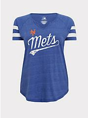 MLB New York Mets Blue Triblend Tee, ROYAL BLUE, hi-res