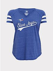 MLB Toronto Blue Jays Blue Triblend Tee, ROYAL BLUE, hi-res