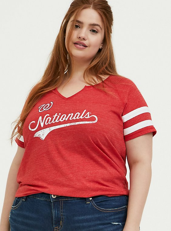 MLB Washington Nationals Red Triblend Tee, , hi-res