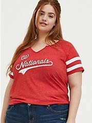 MLB Washington Nationals Red Triblend Tee, PEACOAT, hi-res