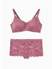 Mauve Purple 360° Back Smoothing™ Lightly Lined Everyday Wire-Free Bra , DRIED CRANBERRY BURGUNDY, alternate