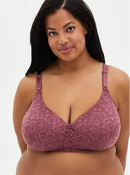Mauve Purple 360° Back Smoothing™ Lightly Lined Everyday Wire-Free Bra , DRIED CRANBERRY BURGUNDY, hi-res