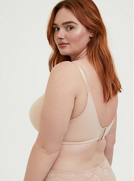 Plus Size Nude 360° Back Smoothing™ Everyday Wire-Free Nursing Bra, ROSE DUST, alternate