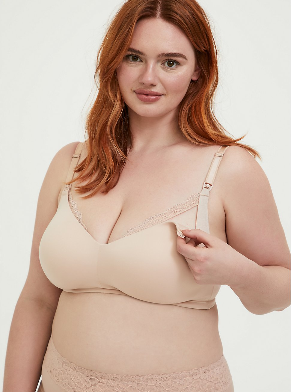 Beige 360° Back Smoothing™ Everyday Wire-Free Nursing Bra, ROSE DUST, hi-res