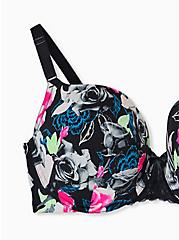 Black Floral 360° Back Smoothing™ Push-Up T-Shirt Bra, X RAY FLORAL RICH BLACK, alternate