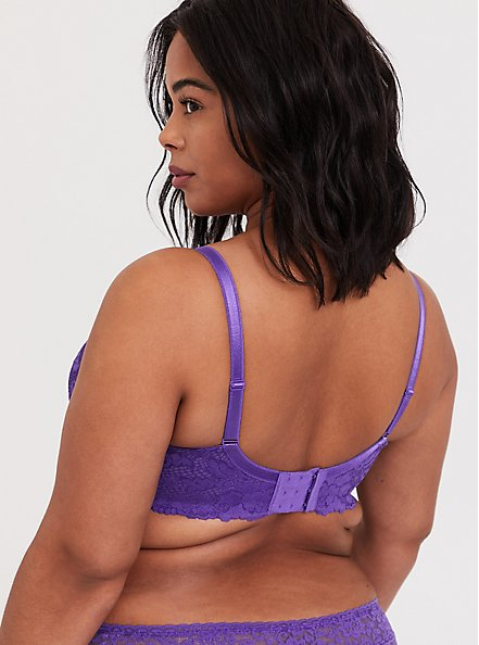 Purple Lace Lightly Lined T-Shirt Bra, CRYSTAL BALL PURPLE, alternate