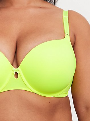 Neon Yellow 360° Back Smoothing™ Lightly Lined T-Shirt Bra, NEON YELLOW, alternate