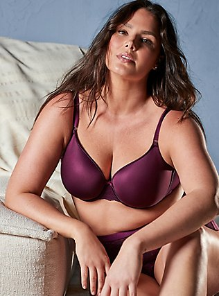 Grape Purple 360° Back Smoothing™ Full Coverage Bra, POTENT PURPLE, pdped