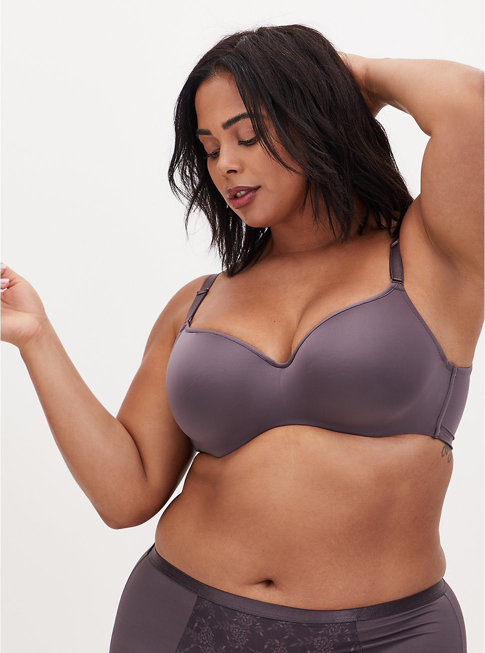 Vintage Purple 360° Back Smoothing™ Lightly Lined Full Coverage Balconette Bra, MUTED VIOLET PURPLE, hi-res