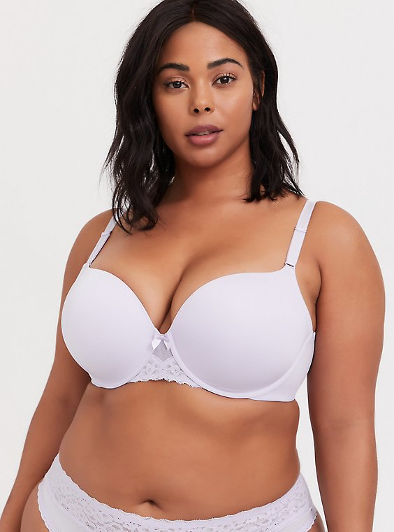 Plus Size Lilac Purple 360° Back Smoothing™ Push-Up T-Shirt Bra, , hi-res