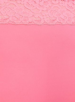 Neon Pink Wide Lace Shine Cheeky Panty, FLUORESCENT PINK, alternate